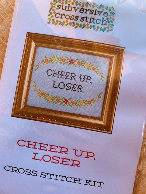 Subversive Cross Stitch - Cheer up, loser