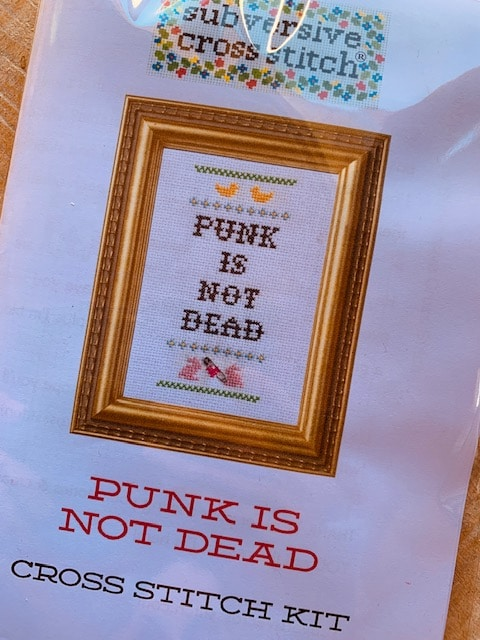 Subversive Cross Stitch - Punk is not dead