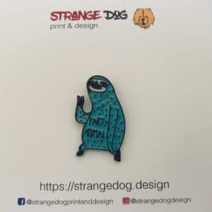 party animal enamel pin
