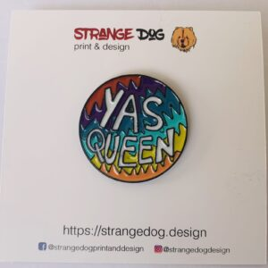 yas queen enamel pin