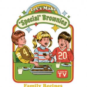 Let's make special brownies Strange Dog Print and Design