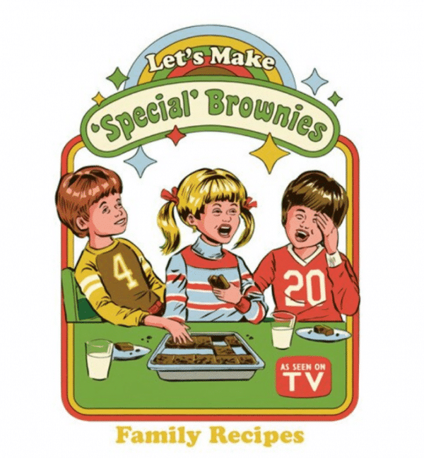 Let's make special brownies Strange Dog Print and Design