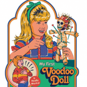 My first voodoo doll Strange Dog Print and Design