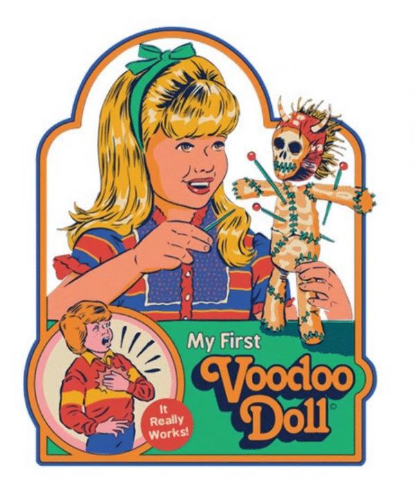My first voodoo doll Strange Dog Print and Design