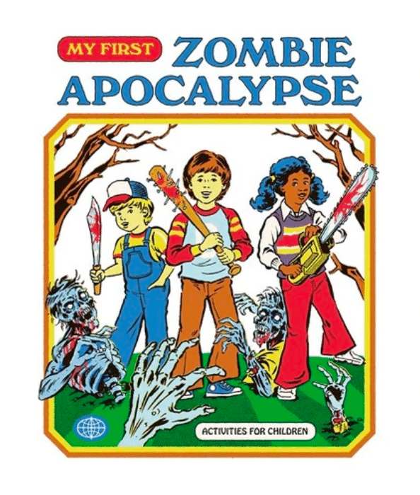 My first zombie apocalypse Strange Dog Print and Design