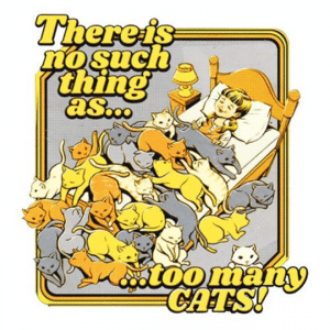 Theres no such thing as too many cats Strange Dog Print and Design